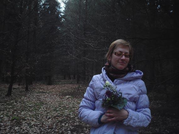 С нежными цветами Скандинавии в немецком лесу где-то под Гамбургом.